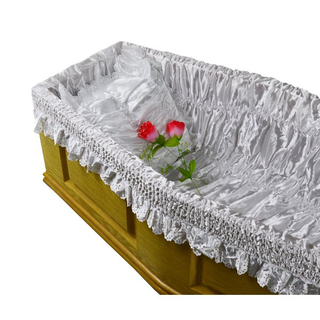 Funeral coffin lining and coffin liner